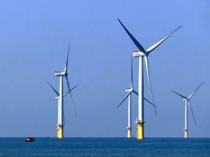 海外のノウハウを取り入れ、国内でも再生可能エネルギーの開発に弾みをつける(中部電力が出資するJERAが参画する洋上風力発電設備。台湾北西部・苗栗県沖)
