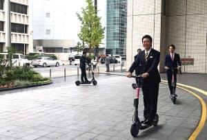 モビーライドは電動キックボードのシェア実験を始めた(福岡市)