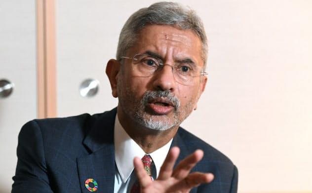 インドのジャイシャンカル外相(23日、名古屋市)