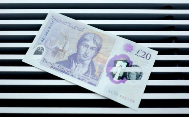 イングランド銀行が20年2月に導入する20ポンド紙幣の新デザイン。主要政党はいずれも公共支出拡大を公約に掲げている=ロイター