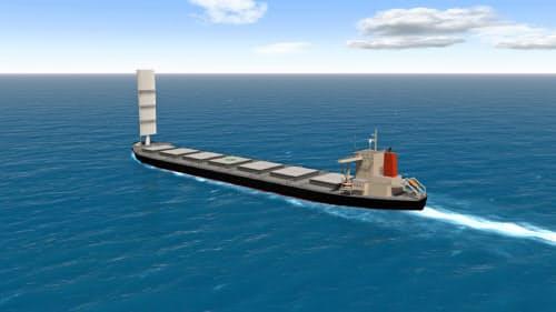硬翼帆を備えた船舶のイメージ