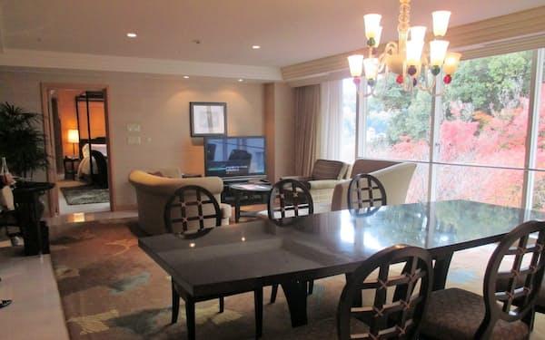 最高級の客室は1泊あたり40万~85万円で提供する(27日、京都市東山区)