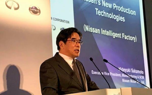 坂本副社長は「次世代車は仕様の組み合わせが複雑になり、これに対応した生産管理が欠かせなくなる」と述べた