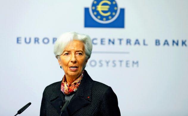 ECBのラガルド総裁は気候変動対策に並々ならぬ意欲を示す=ロイター