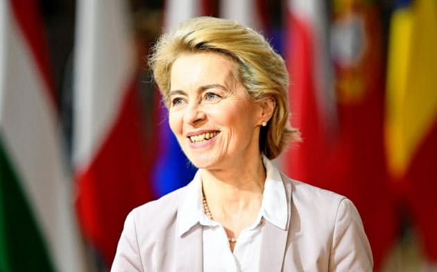 欧州委員会のフォンデアライエン次期委員長は、EU加盟各国にCO2排出目標の強化を訴える=ロイター
