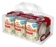 明治の液体ミルクと吸い口をつなぐ付属品をセットにした商品パッケージのイメージ