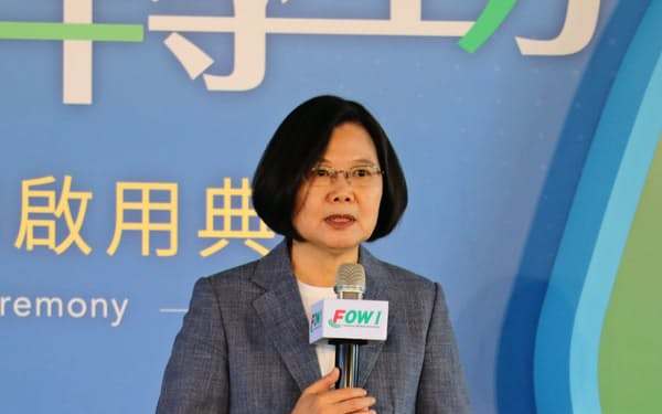 台湾の蔡総統は経済の脱中国依存を推進する(11月、苗栗県)