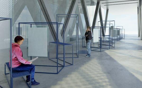 東京都現代美術館エントランスにポスターを展示する(写真はイメージ)