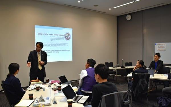 「課題創造学講座」では永田学長が筑波大学の奮闘をテーマに講義した