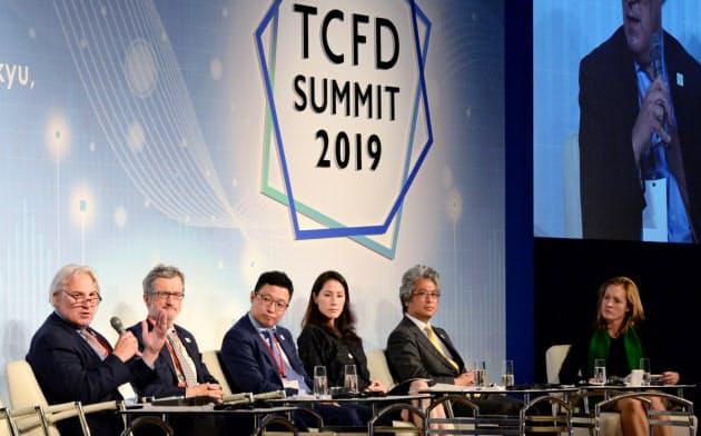 TCFDは気候変動が企業業績や財務に及ぼす影響の分析・開示を求めている(10月に東京都で開かれたTCFDサミット)