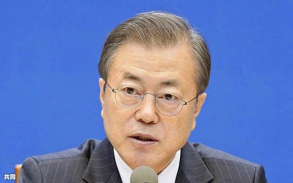 文氏が率いる大統領府に市長選介入疑惑が浮上した(共同)