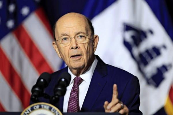 ロス米商務長官は対中関税を引き上げても米経済への影響は小さいと主張する=AP