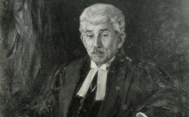 穂積陳重は東京帝国大の法学部長、貴族院議員、枢密院議長を歴任した(肖像画は東京大のホームページより)