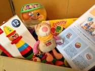 月齢にあった玩具が届く
