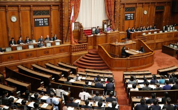 与党などの賛成多数で日米貿易協定を可決、承認した参院本会議(4日)