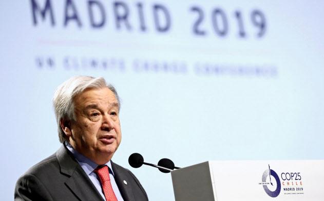 国連のグテレス事務総長は2日、「パリ協定」の目標を達成する取り組みは「全く不十分」と批判した=ロイター