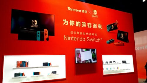 中国市場で成功すれば任天堂が注力するIP(知的財産)ビジネスなどゲーム以外の分野での相乗効果も大きい(4日、上海市内)