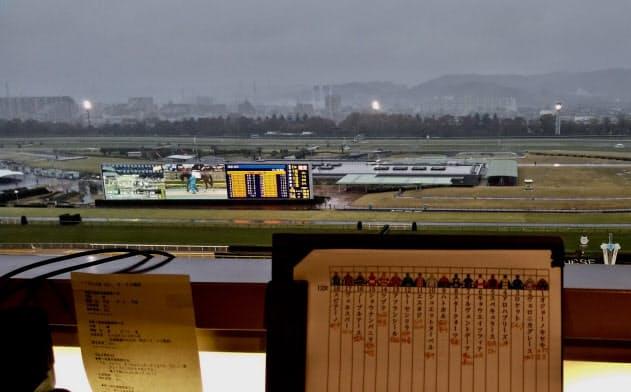 雨模様だった11月23日の東京。最終レースの時間帯はこの暗さ