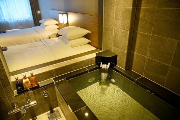 コートヤード・バイ・マリオット白馬は温泉付き客室で日本文化をアピールする