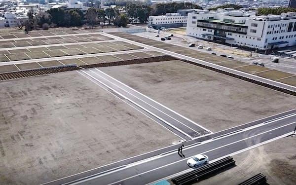 ヨシコンは約4万平方メートルの土地に商業施設と住宅地を整備する(静岡県函南町)