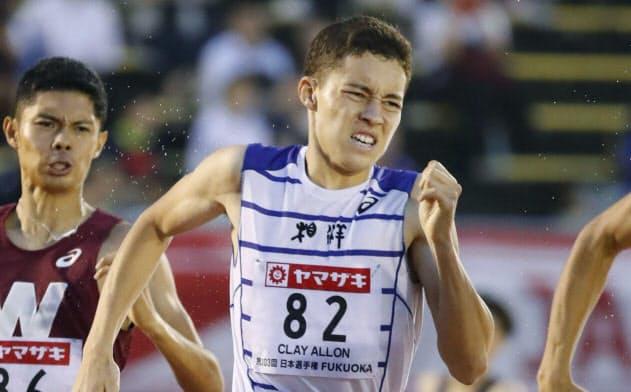 陸上日本選手権男子800メートルで優勝したクレイ・アーロン竜波