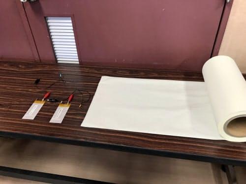 特殊ゴムを塗布した耐熱性不織布