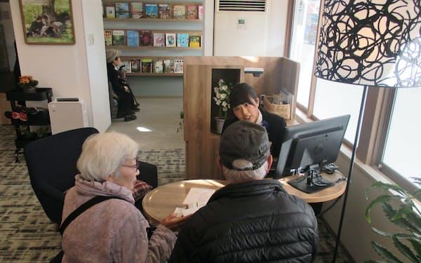 京都信金の東桂支店は接客スペースをゆったり確保した(京都市西京区)