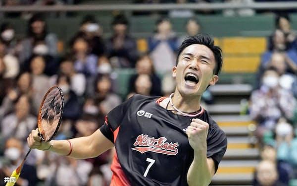全日本を圧倒的な力で制した桃田に勝負に生きる覚悟を感じた=共同