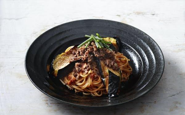 人気メニューのスパゲッティ「なす辛」など4品を3割引きで提供