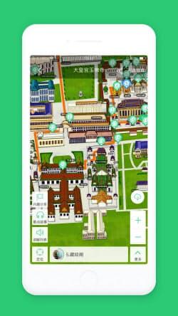 観光地の立体的な地図を見ながら音声解説を聞くことができる(三毛信息科技提供)