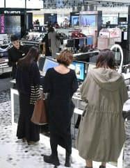 6階の化粧品売り場(渋谷スクランブルスクエア東棟)