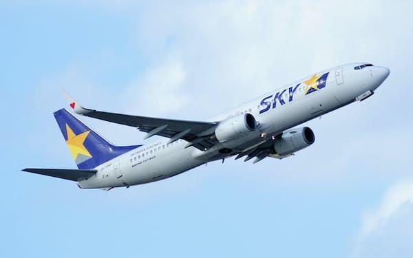 スカイマークの機材は米ボーイングの小型旅客機B737で統一されている