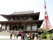 増上寺と東京タワーを結ぶ歩行者空間を整備する構想だ