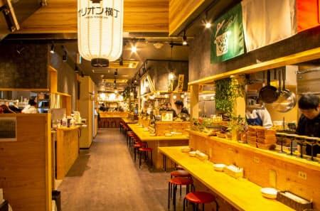 アスラボは宇都宮市などでもシェアキッチンのノウハウを提供している(同市のオリオン横丁)