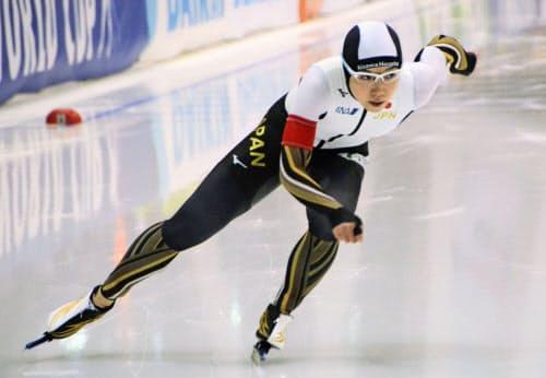 女子500メートルで3位だった小平奈緒(7日、ヌルスルタン)=共同