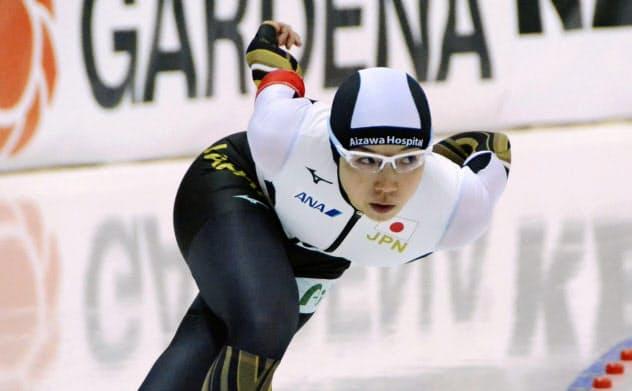 女子1500メートルで8位だった小平奈緒(8日、ヌルスルタン)=共同