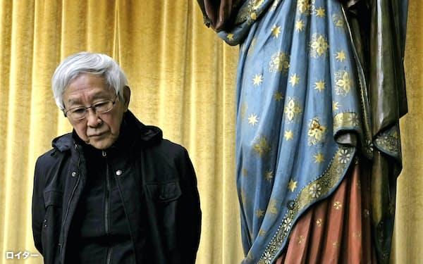 香港カトリック教会の前司教、陳日君枢機卿は「我々は長い降伏プロセスの終わりに来ている」と語る=ロイター