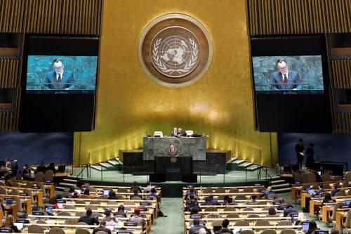 習政権以降、中国は国連への拠出金を増やし様々な手段で米国中心の国連の在り方を変えようとしている(写真は今年の国連総会)=AP