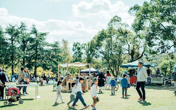 大蓮公園では市民主催のイベントも開かれている(堺市)