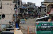 紛争の跡が生々しく残る市街地(フィリピン南部マラウイ市)
