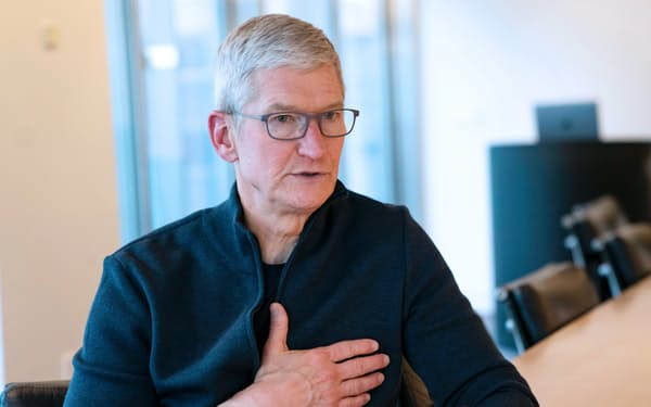 クック氏はアップルのイノベーション力は「かつてなく強力だ」と訴えた(10日、東京都中央区)