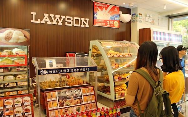 ローソンは中国で出店攻勢をかけている(江蘇省南京市)