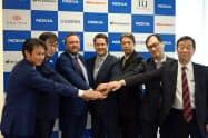 フィンランドの通信機器大手ノキアは、企業向けの「ローカル5G」提供で、日鉄ソリューションズなど5社と協業すると発表した(11日、東京・千代田)