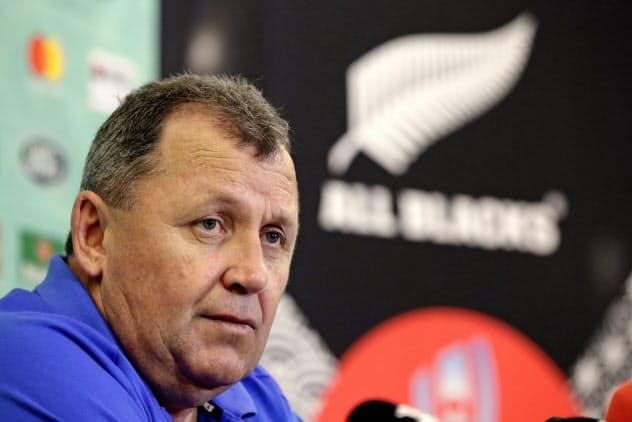 ラグビー・ニュージーランド代表監督に昇格するイアン・フォスター・コーチ=AP