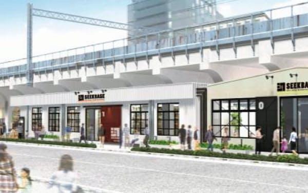 鉄道の高架下を有効活用した商業施設を開設する(イメージ)