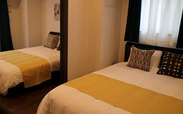 部屋は約40平方メートルで、最大で5人が宿泊できる