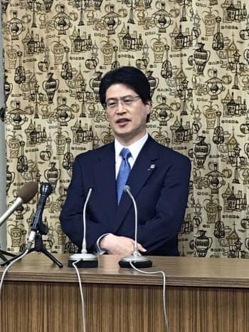 愛媛経済同友会の代表幹事に就任予定の清水一郎氏(11日、松山市)