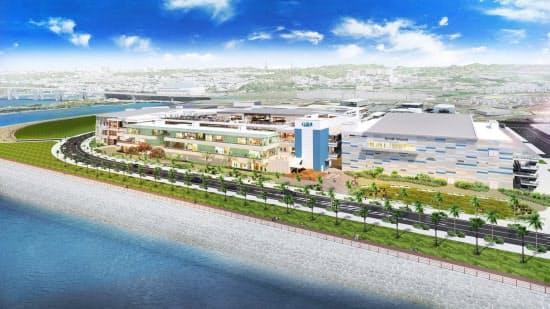 「イーアス沖縄豊崎」は水族館やテーマパークも入居する(イメージ図)