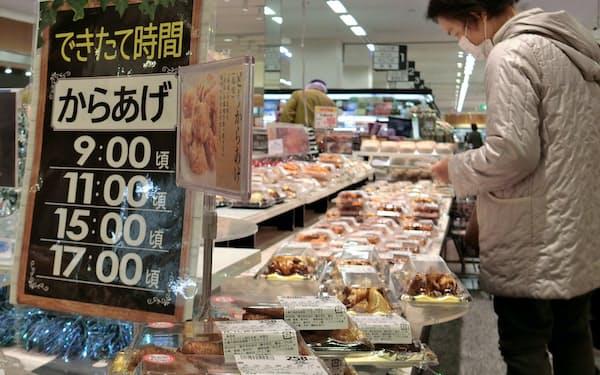 揚げ物など総菜の販売に改めて注力する(広島市のマックスバリュ)