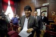ボリビアのモラレス前大統領(11月、メキシコシティ)=ロイター